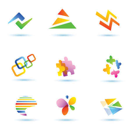 basic shapes: set of abstract  icons