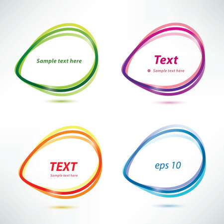 speech bubbles, set of  icons Stock Vector - 22348547