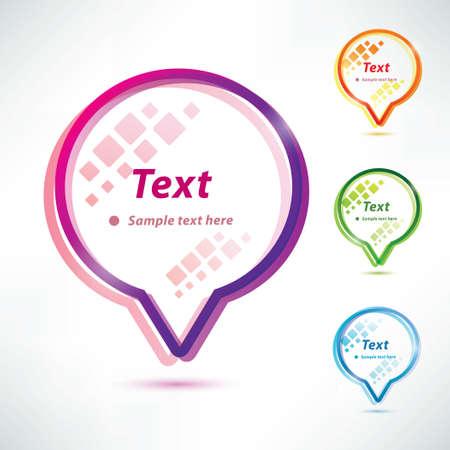 speech bubbles,  icons set Stock Vector - 22348548