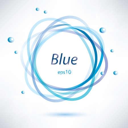 round border: abstract blue circle frame,  Illustration