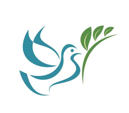 pigeon: pigeon of peace, isolated illustration