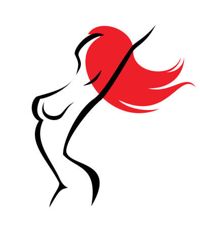 sexual woman, isolated symbol Illustration