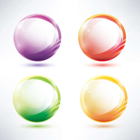 set of abstract glosy circles Vector