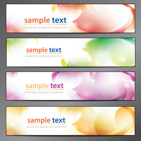 abstract background, business banner set Vector