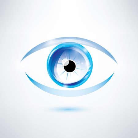abstract eye: human blue eye, abstract shape