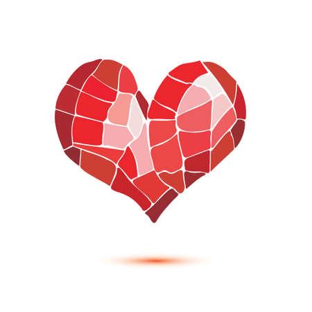 corazón del mosaico símbolo aislado