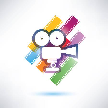 film and camera vector icon Vector