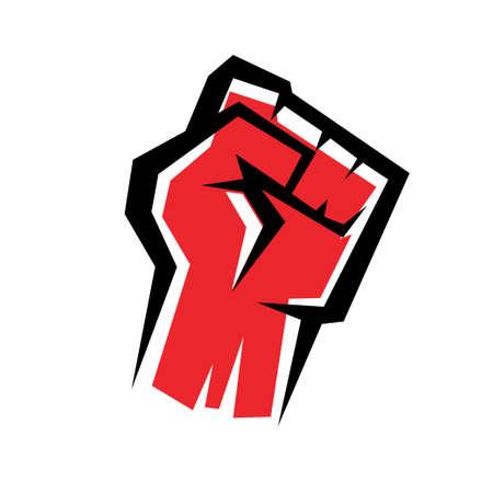 resistencia: icono del pu�o del vector estilizada, concepto de revoluci�n