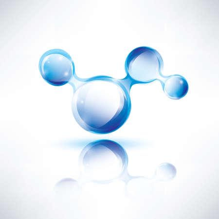 industria quimica: forma abstracta, icono de color del agua, concepto de la tecnología