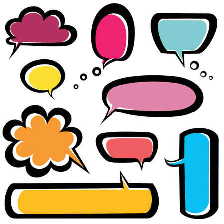 speech bubbles icons set Vector