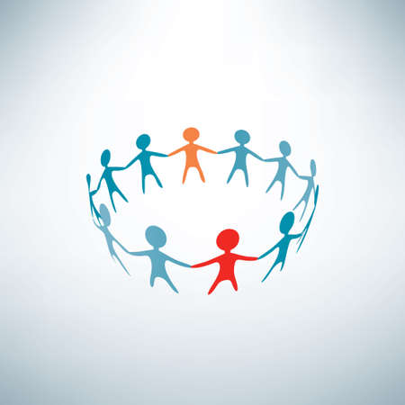 people joined in the ring, business concept Vector