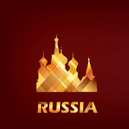 red square moscow: saint Basil cathedral symbol, Russia, Moscow Illustration