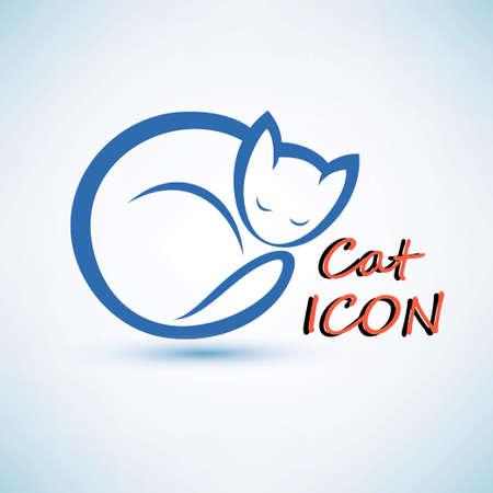 silueta gato: icono del gato