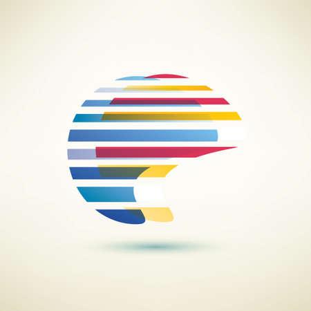 abstract globe shape, vector symbol Vector