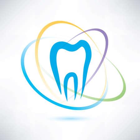 tand bescherming abstract symbool Stock Illustratie