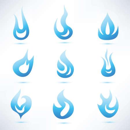 blue flame: gas blue flame Illustration