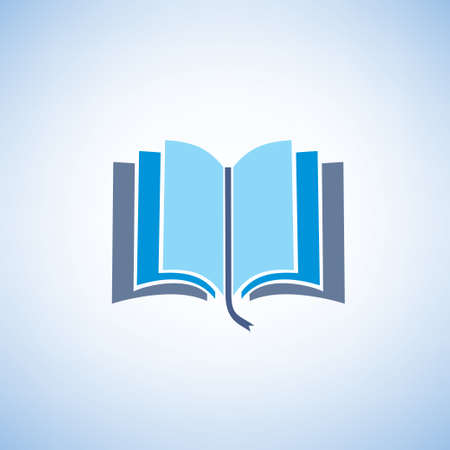 open diary: book isolated vector symbol