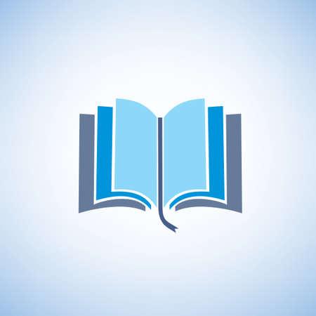 bible ouverte: livre isol� symbole vecteur