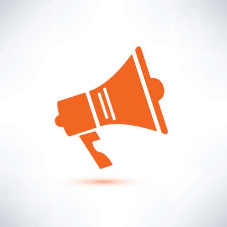 loudspeaker: megaphone, loudspeaker isolated symbol Illustration