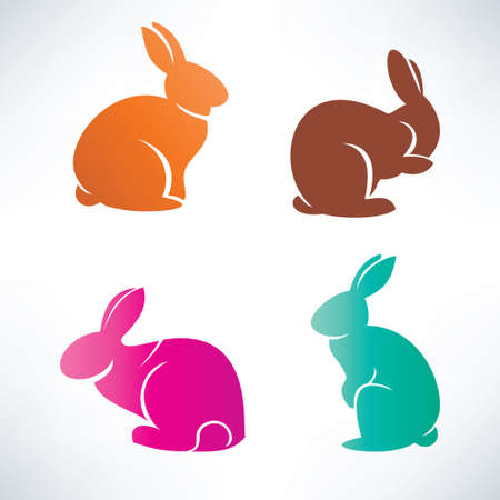 bunny silhouette collection 版權商用圖片 - 27501635