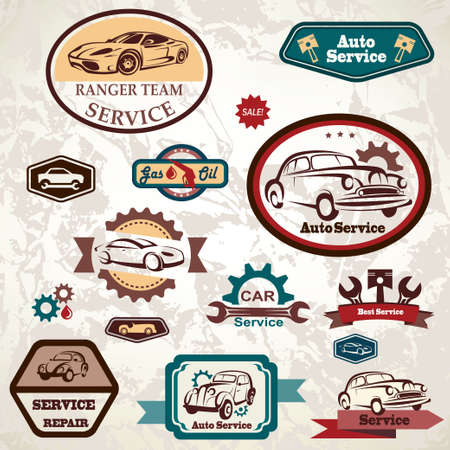 car service retro emblem Vector