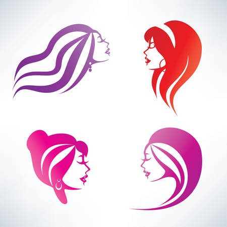 beauty saloon: women hairstyle collection