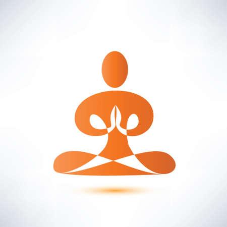 yoga meditation symbol Stock Vector - 27501469