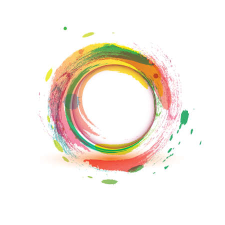 abstarct background multicolor water circle Ilustracja