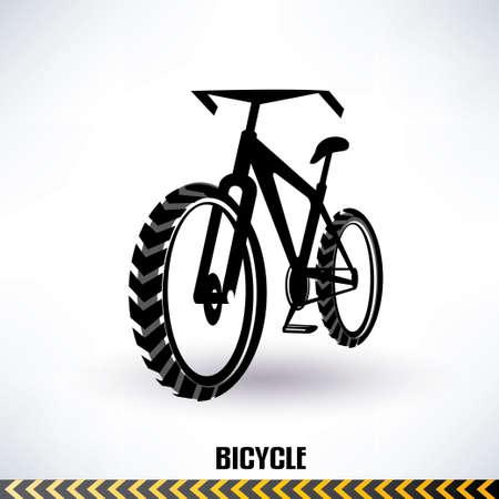 bicicleta vector: bicicleta de montaña símbolo vector Vectores