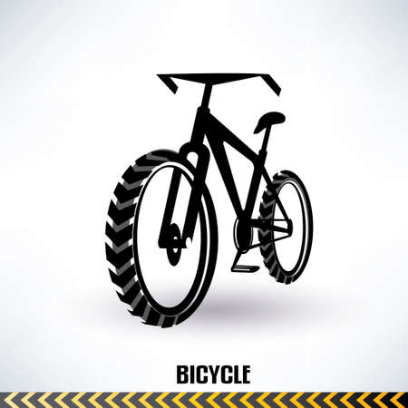 mountain bike vector symbol Illustration