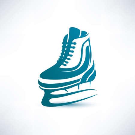 ice skates: ice skates vector symbol