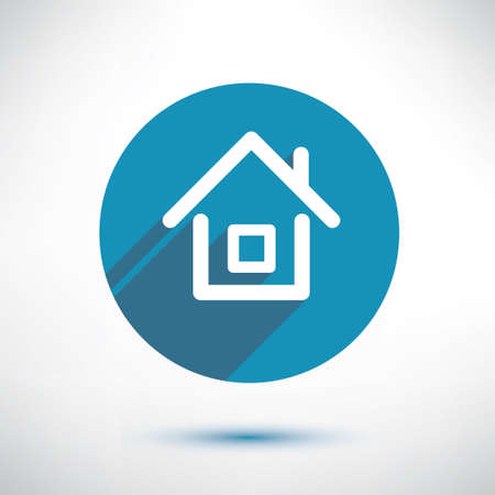 house icon in flat style Vector