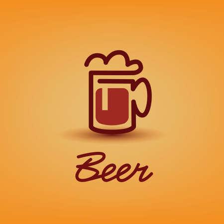 traditional beer cup symbol Vector