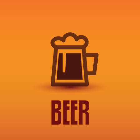 beer pint: traditional beer cup symbol
