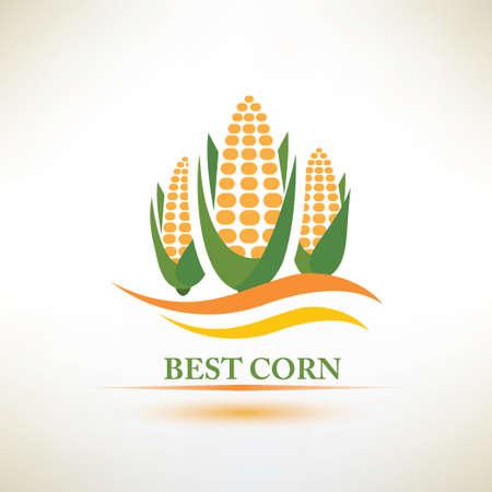 planta de maiz: símbolo vector maíz Vectores
