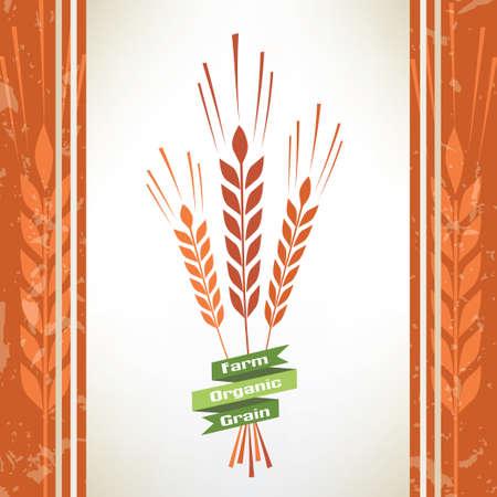 produits céréaliers: grain symbole vecteur