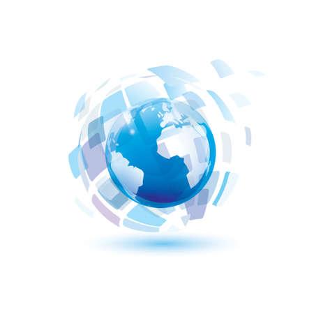 digital world abstract vector symbol
