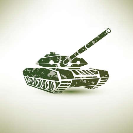 wartime: military tank symbol