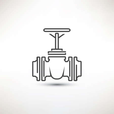 natural gas: Valve symbol Illustration