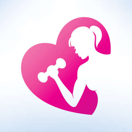 symbol sport: aktive Frau, die Fitness-Symbol, Sport-Konzept