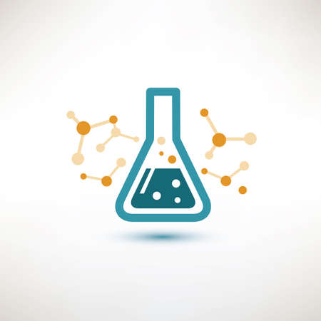 chemical glass symbol, chemistry and science concept Vector