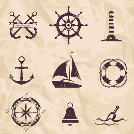 nautical design elements Illustration