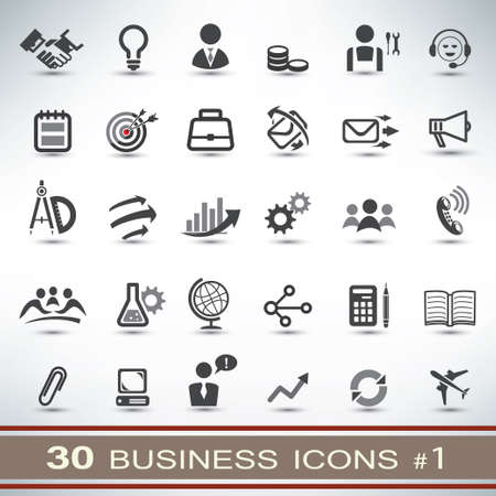 30 business icons set Vector