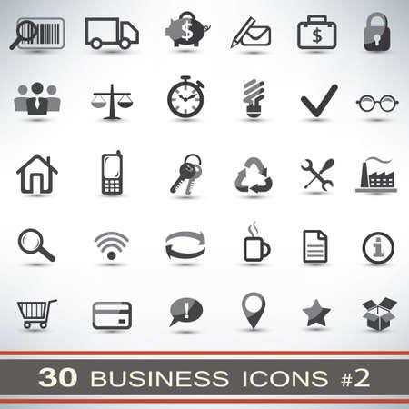 gestion del tiempo: 30 iconos de negocios conjunto Vectores