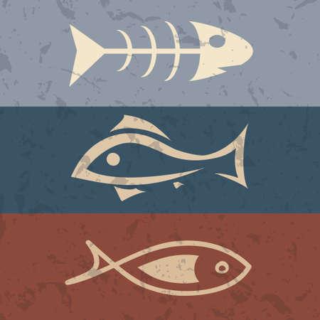 fish symbol set Vector