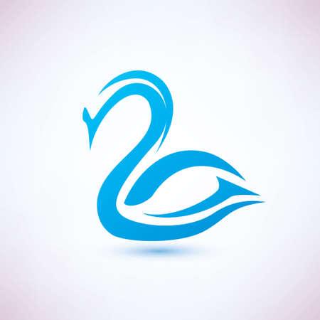 cisnes: cisne símbolo vector, icono el concepto de belleza Vectores