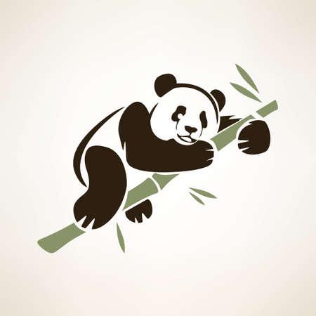 vector symbol: panda isolated vector symbol