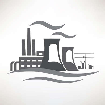 power plant: power plant, traditional electricity production icon