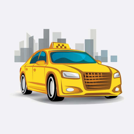 taxi icon, stylized symbol