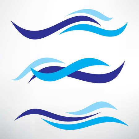 템플릿 양식에 일치시키는 벡터 기호의 물 파도 설정, 디자인 요소